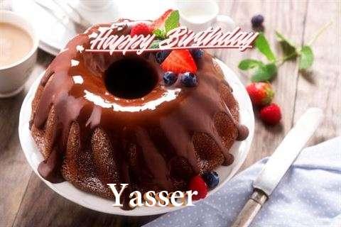 Happy Birthday Yasser Cake Image