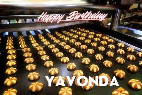 Happy Birthday Cake for Yavonda