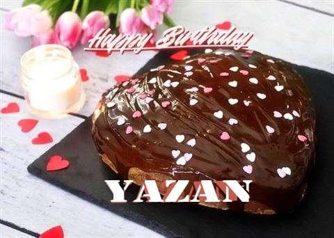 Happy Birthday Cake for Yazan