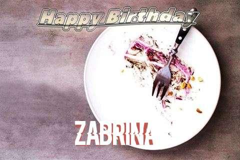 Happy Birthday Zabrina Cake Image