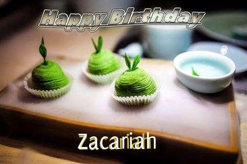 Happy Birthday Zacariah Cake Image