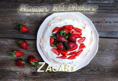 Happy Birthday Zacary Cake Image