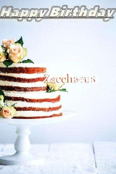 Happy Birthday Zacchaeus Cake Image