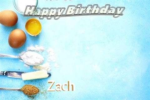 Happy Birthday Cake for Zach