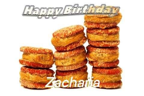 Happy Birthday Cake for Zacharia