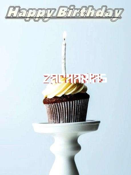 Happy Birthday Zacharias Cake Image