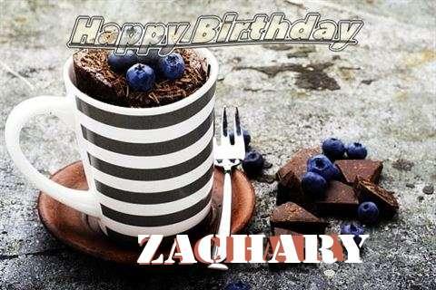 Happy Birthday Zachary Cake Image