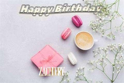 Happy Birthday Zachery Cake Image