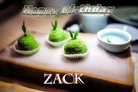 Happy Birthday Zack Cake Image