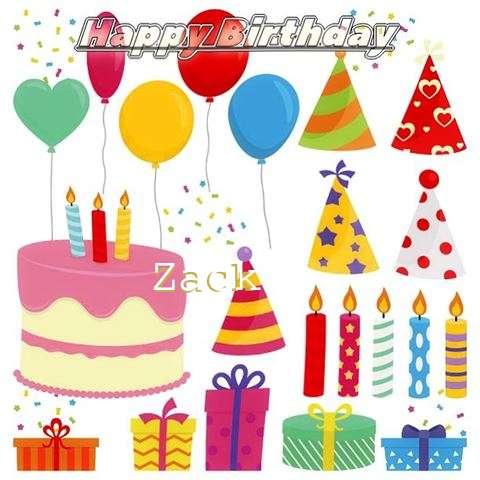 Happy Birthday Wishes for Zack