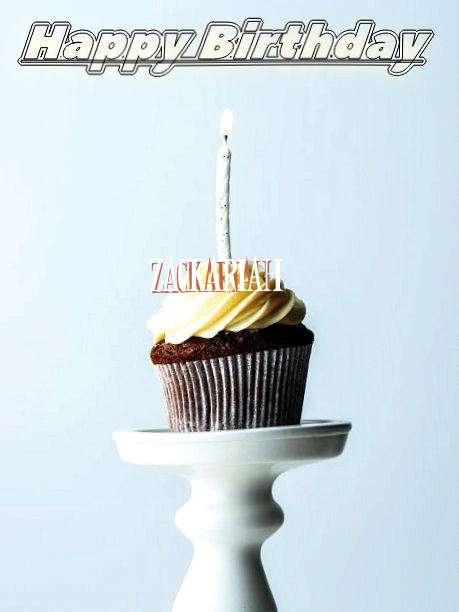 Happy Birthday Zackariah Cake Image