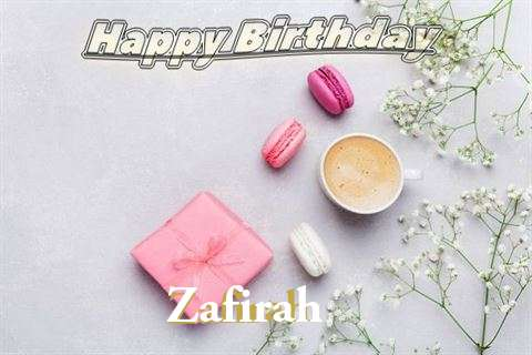 Happy Birthday Zafirah Cake Image