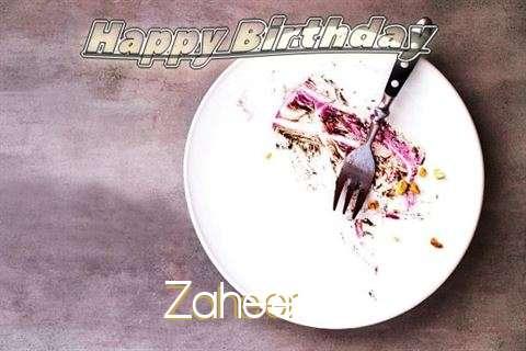 Happy Birthday Zaheer Cake Image