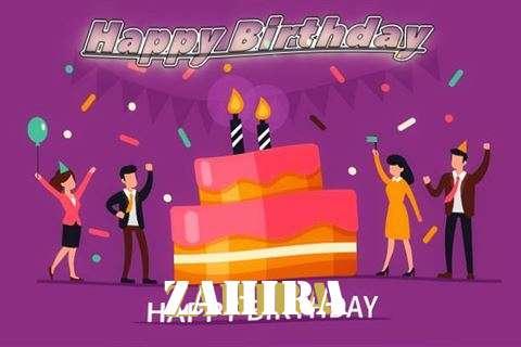 Birthday Wishes with Images of Zahira
