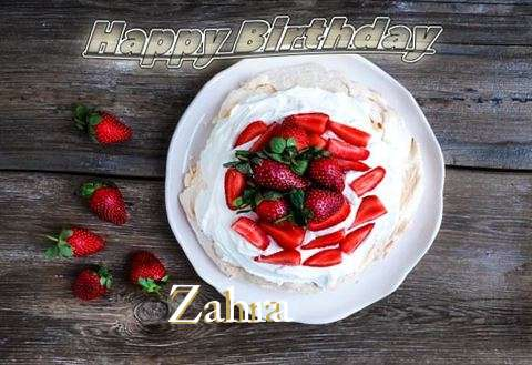 Happy Birthday Zahra Cake Image