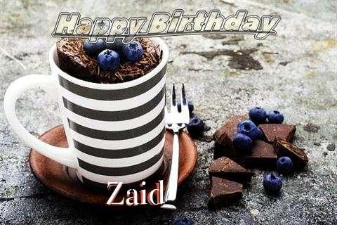 Happy Birthday Zaid Cake Image