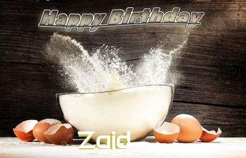 Happy Birthday Cake for Zaid