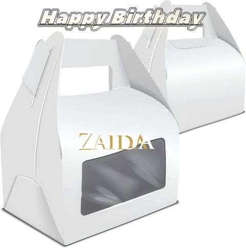 Happy Birthday Wishes for Zaida