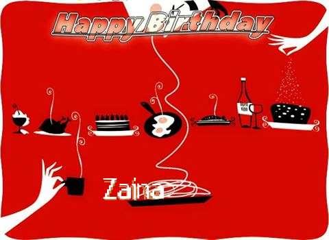 Happy Birthday Wishes for Zaina