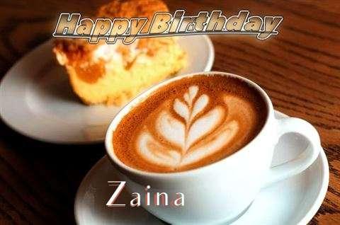 Happy Birthday Cake for Zaina