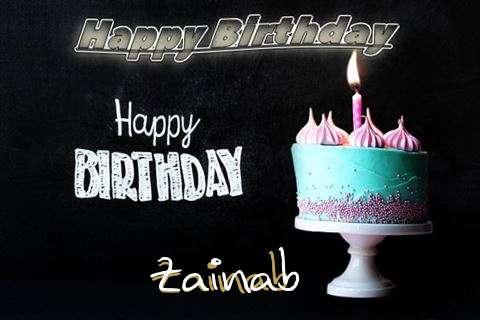 Happy Birthday Cake for Zainab