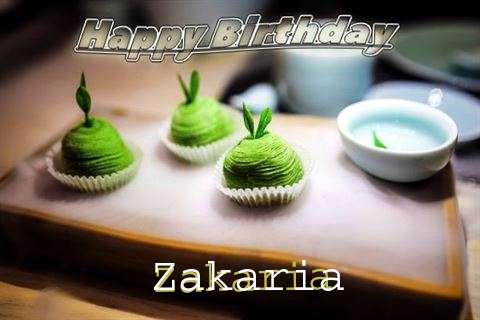Happy Birthday Zakaria Cake Image