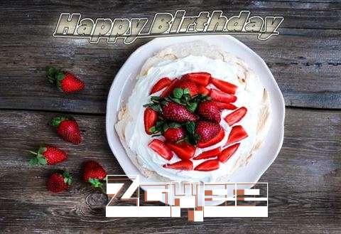 Happy Birthday Zakee Cake Image