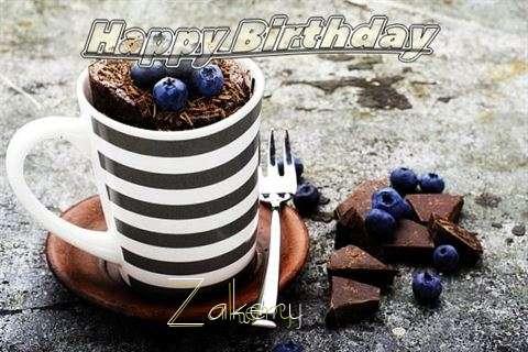 Happy Birthday Zakery Cake Image