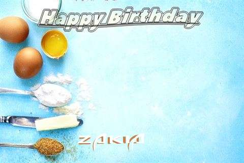Happy Birthday Cake for Zakia