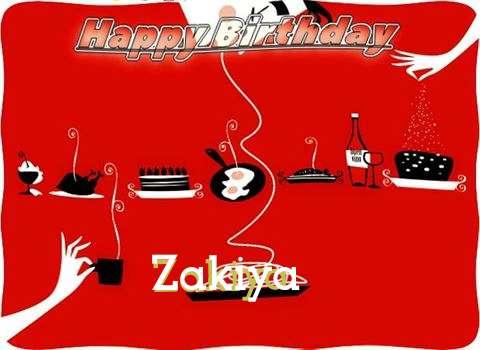 Happy Birthday Wishes for Zakiya