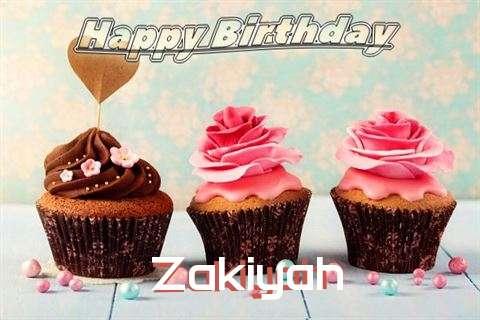 Happy Birthday Zakiyah Cake Image