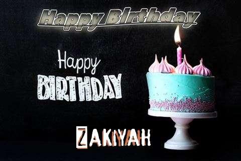 Happy Birthday Cake for Zakiyah