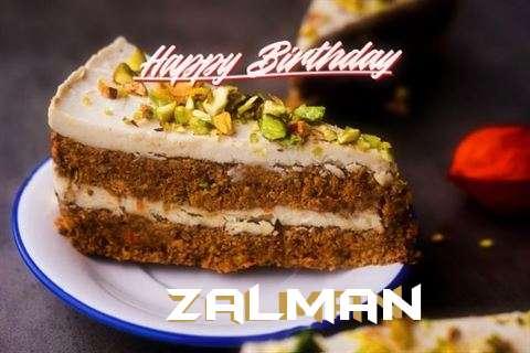 Happy Birthday Zalman Cake Image