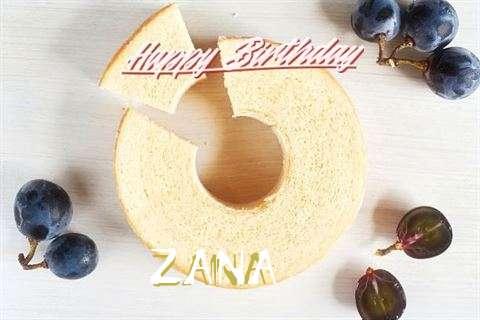 Happy Birthday Wishes for Zana