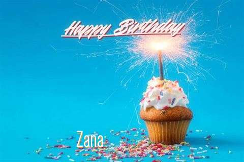 Happy Birthday Cake for Zana
