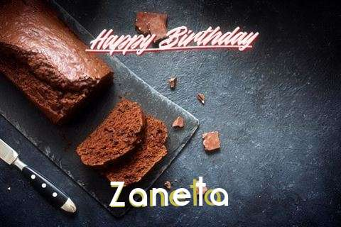 Happy Birthday Zaneta Cake Image