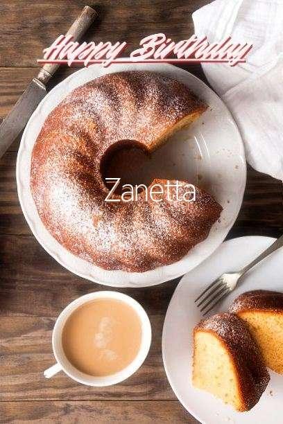 Happy Birthday Zanetta Cake Image