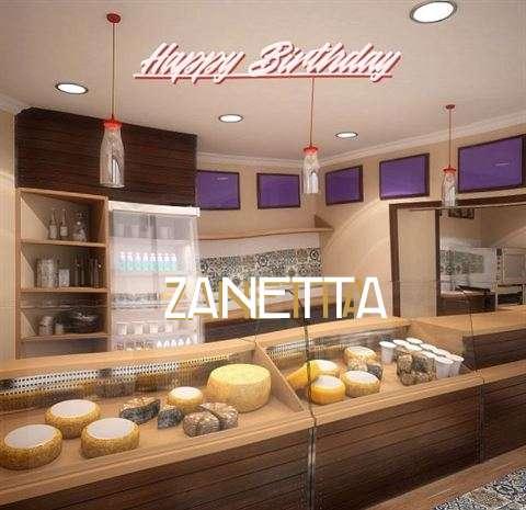 Happy Birthday Wishes for Zanetta