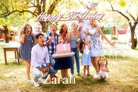 Happy Birthday Zarah