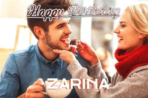 Happy Birthday Zarina Cake Image