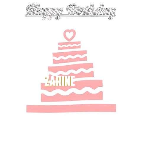 Happy Birthday Zarine Cake Image