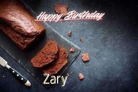 Happy Birthday Zary Cake Image