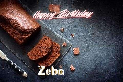 Happy Birthday Zeba Cake Image