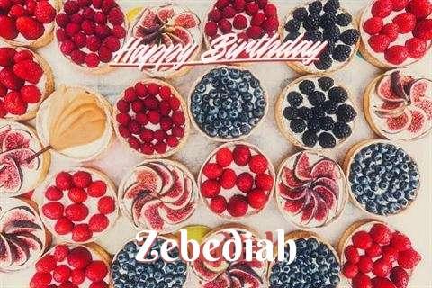 Happy Birthday Zebediah Cake Image