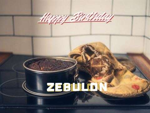 Happy Birthday Zebulon Cake Image
