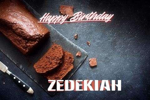 Happy Birthday Zedekiah Cake Image