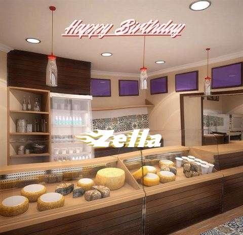 Happy Birthday Zella Cake Image