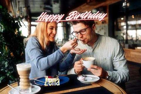 Happy Birthday Zena Cake Image