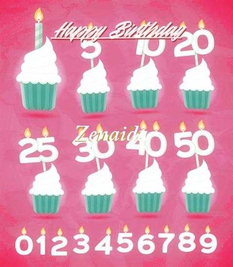 Birthday Wishes with Images of Zenaida