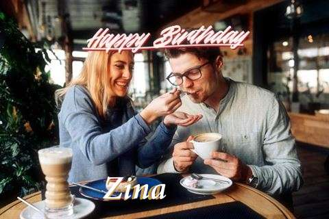 Happy Birthday Zina Cake Image